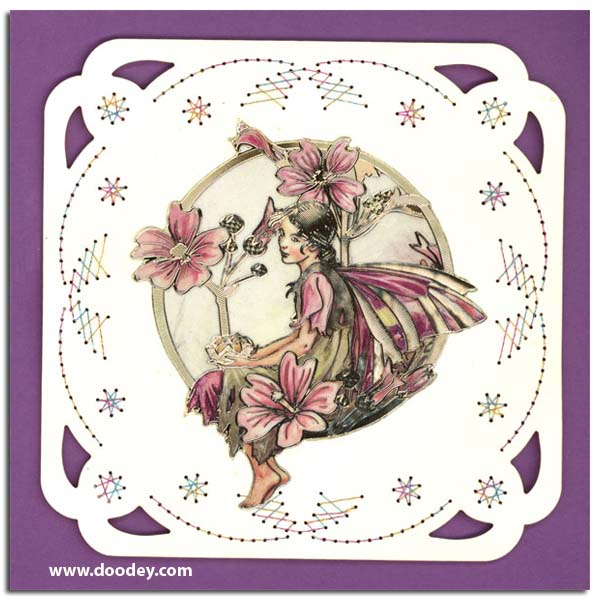 Mallow Flower Fairy Card With Flower Fairy Mallow