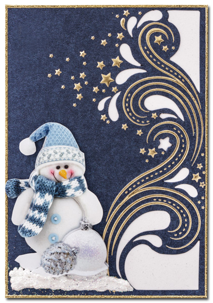 luxury card met sneeuwpop