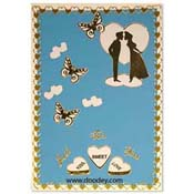 love card with butterflys and couple