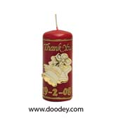 wedding candle red