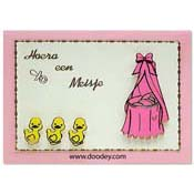 birth card 3 duckies girl