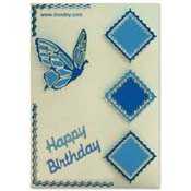 birthday card with butterfly