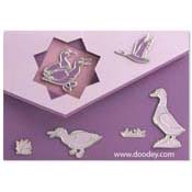 card with gooses