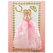 fashion card with crown and prinsess dress