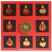 card christmas baubles and seal
