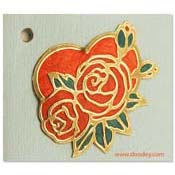 flowercard heart with roses