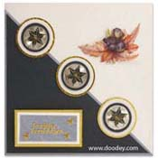 christmas embroidery card 3 star circles