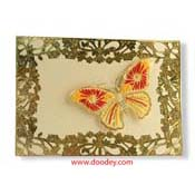 Embroidery card butterfly