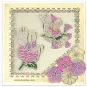 card faries with flowers