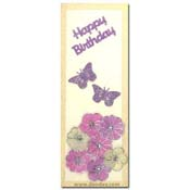 card happy birthday with butterflies and flowers