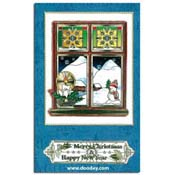 christmas match-it window with text