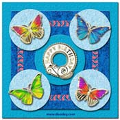 birtday card butterflies in circles
