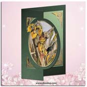 flower fairy card iris