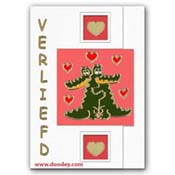 card love with crocodiles