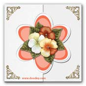 card flower with corner