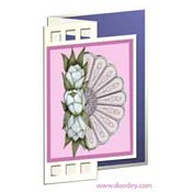 card fan and flowers