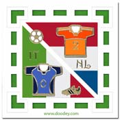soccer card Holland Italia 2-0
