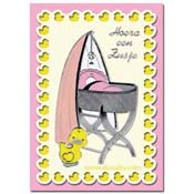 Baby card a new baby girl