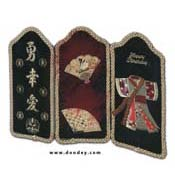 Card oriental screen black