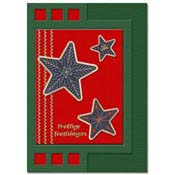 zigzag christmas card with 3 stars