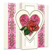 Romantic 3D Rose card