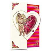 Valentine card 3D Cupid
