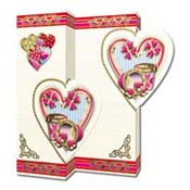 Romantic 3D Heart Flower Card