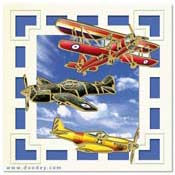 card with old aircrafts