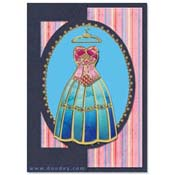 card with fashion dress