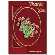 tulip card thank you