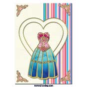 card with dress