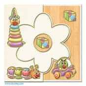 baby card with toys