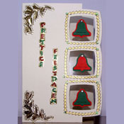 Christmas card with 3 bells
