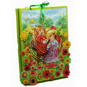 box with coloured flowers