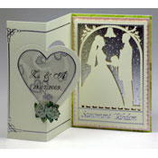 wedding card bride and groom silhouette