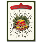 3D christmas card with bell