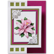 zigzag card with flower