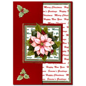 christmas card with flower