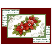 christmas card with flowers