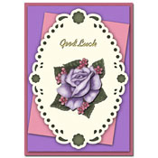 good luck card with flower