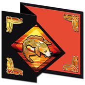 oriental card with gold fish