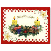 embroidered card christmas with garland