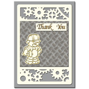 Thank you card with tools