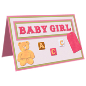 scrapbook card birth