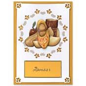 typical dutch card with clogs