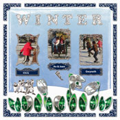 Scrapbook pagina Winter