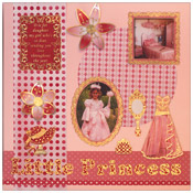 Little Princess scrapbook pagina