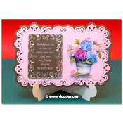 stand-easy card a5 met 3D hortensia