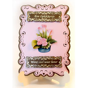 stand-easy card a5 with 3D calla lily