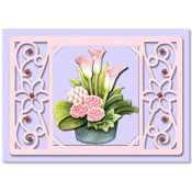 card with calla flowers